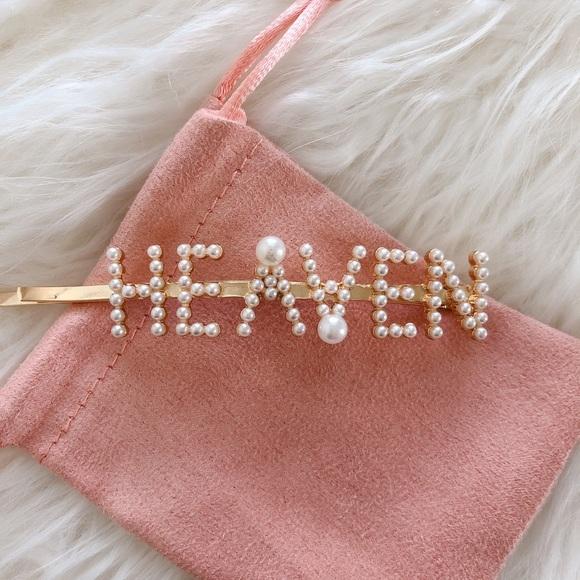 "New! Pearl/Gold ""HEAVEN"" Hairpin Hair clip!"